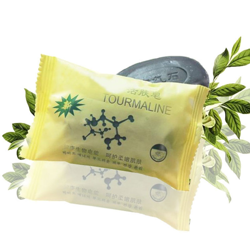 50g Pimple Pore Removal Acne Treatment Tourmaline Soap Cleansing Whitening Moisturizing Soap Face Care Wash Soap Base SSwell