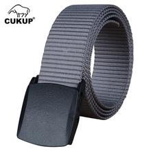 CUKUP Unisex Design High Quality Nylon Belts Plastic Automatic Buckle Female Fashion Waistbands Casual Accessories Belt CBCK029