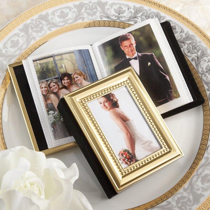 10 pcs/lot wedding favors of Gold metal frame design photo album ...