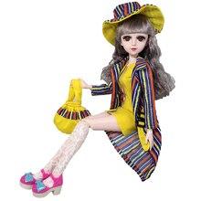 5pcs/set Doll Clothes Formal Wear Dress For 60cm BJD Dolls Accessories Suit Coat Hat Bag Socks for Toys Girls