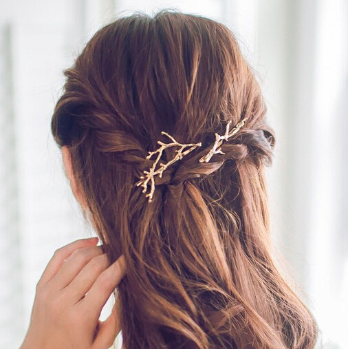 Timlee H109 Free shipping  Grace Fashion Branch Hair Clip Barrettes Girls Lovely Hair Accessary Gift
