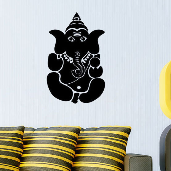 vinyl art wall decal indian pattern removable wall sticker ganesha