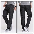 2017 New Quick Dry Mens Exercise Pants Full Length Elastic Waist Mens Active Pants Plus Size 3XL Men Straight Trousers , PA211