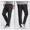 2017 Nuevos Mens de Secado rápido Pantalones de Ejercicio Elástica de larga Duración Hombres Activo Pantalones de cintura Más El Tamaño 3XL de Los Hombres Pantalones Rectos, PA211
