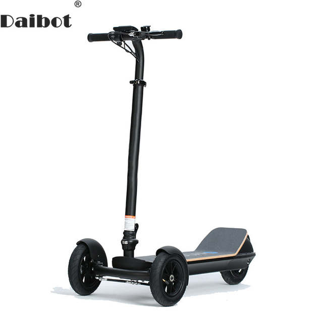 3 Wheel Scooter For Adults >> Us 702 9 29 Off Daibot Electric Scooters Adults 3 Wheels Es Board Self Balancing Scooters 450w Brushless Motor Kids Foldable Electric Skateboard In