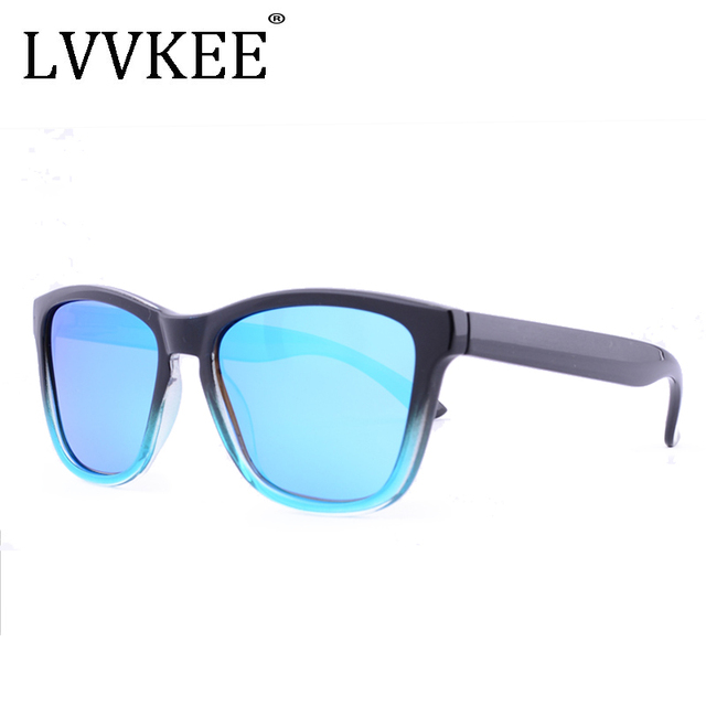 LVVKEE brand Polarized Men women Sport Eyewear Brand Designer Driving Sunglasses Oculos Coating UV400 male Gradient frame