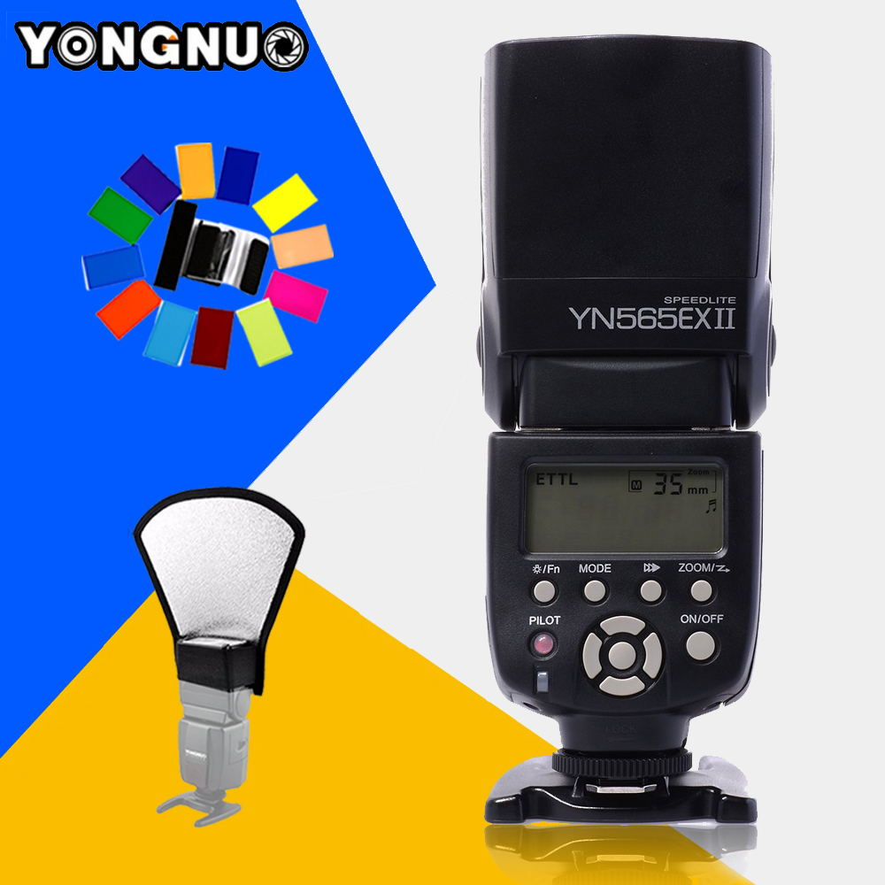 YONGNUO YN565EX II TTL Flash Speedlite YN-565EX II Light for Canon 5D Mark II  550D 600D 1000D 1100D 60D 70D 650D DSLR Camera 3pcs yongnuo yn600ex rt auto ttl hss flash speedlite yn e3 rt controller for canon 5d3 5d2 7d mark ii 6d 70d 60d