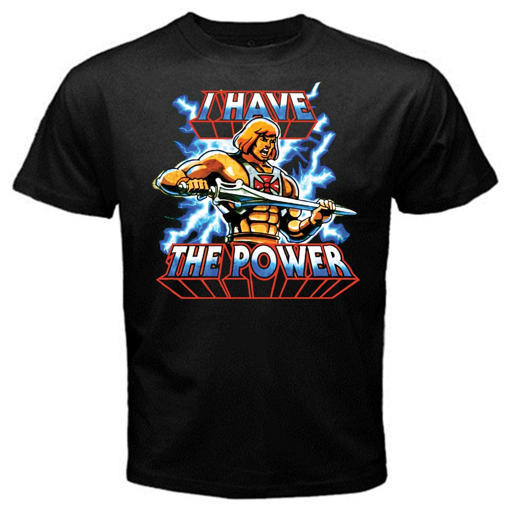 Men's Clothing Tops & Tees Dedicated 2018 Summer Casual Man T Shirt He Man I Have The Power Cartoon Classic Old School T Shirt Black Basic Tee Men Streetwear T Shirt