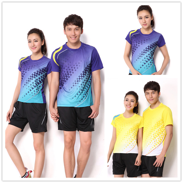 9d63aa641ece2 Equipo Amantes Badminton Set (T-shirt + Shorts) Hombres Y Mujeres Modelo  Transpirable
