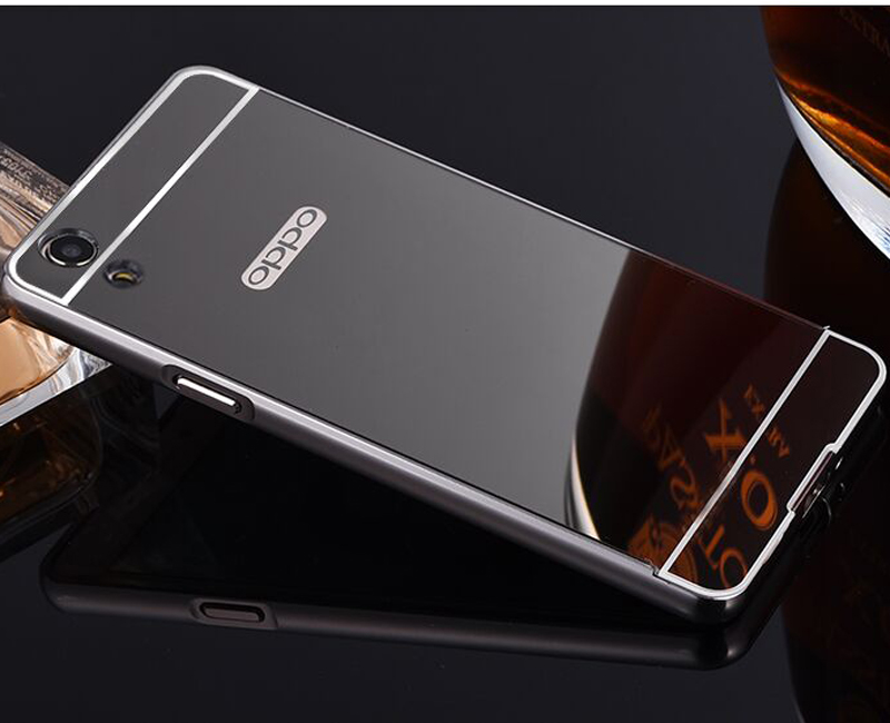 online retailer 77144 f10bf US $2.89 |Luxury For OPPO A37 A37M Metal Plating Aluminum Frame+Mirror  acrylic back cover Hard Phone Case on Aliexpress.com | Alibaba Group