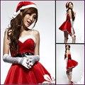 Uniformes uniformes tentação de natal festa de natal stage dress/ds/ds trajes bailarino principal roupas de natal