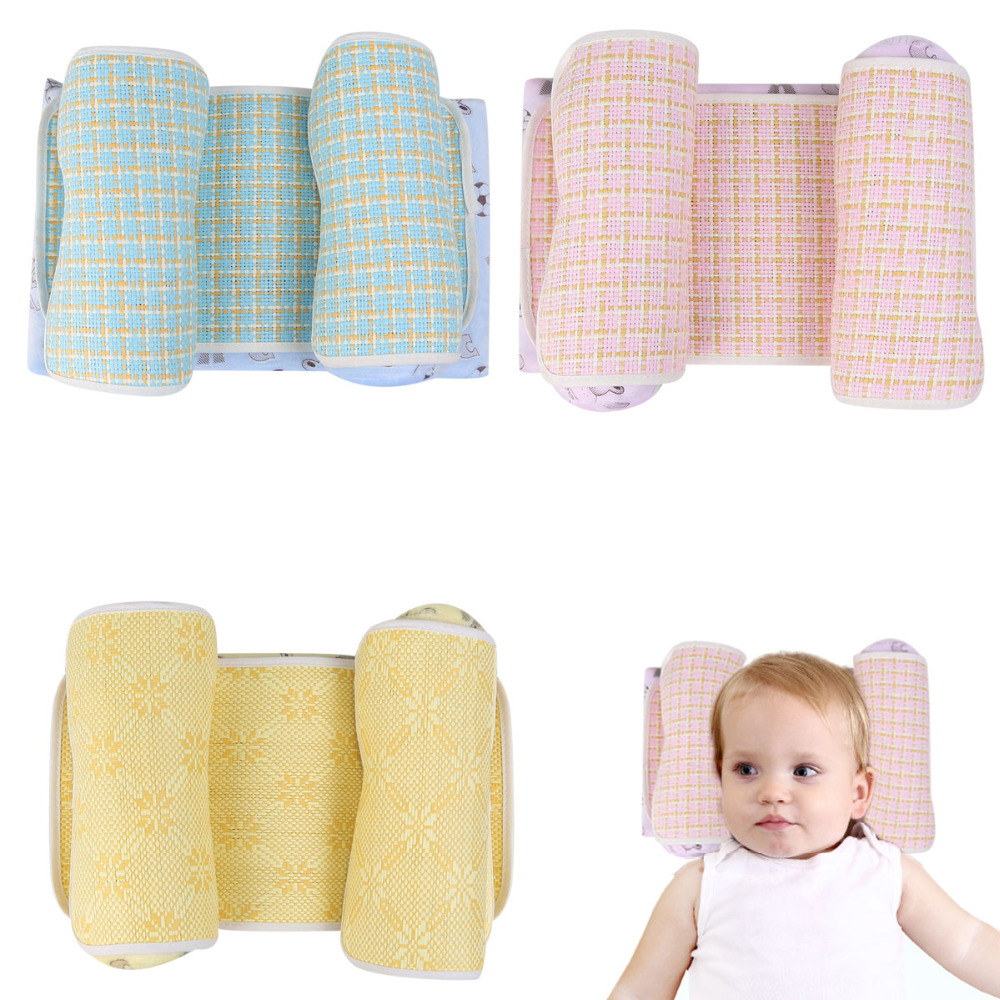 Pillow Sensible Baby Pillow Correct Sleeping Position Rollover Prevention Mattress Cotton Baby Styling Pillow Infant Protection Cushion Headrest Baby Bedding