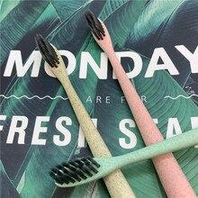 Toothbrush Biodegradable Bamboo-Charcoal Wheat-Straw Oral-Care Nano Soft Ultra Escova-De-Dente