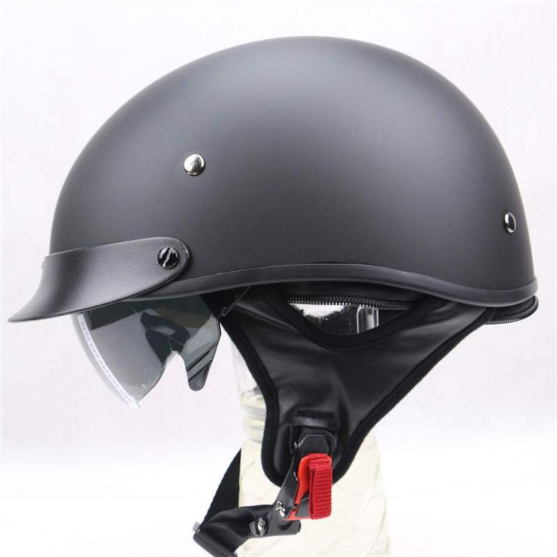 Classic Harley Style Motorbike helmet With Internal Black sunglass Motorcycle helmet Qucik Release Buckle USA style touring