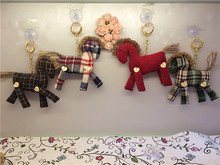 New Creative Pony Cloth Doll Toy Keychain  Baby & Kids Animal Plush Toy Fabric Home&Office Decoration Ornaments Creative Gift