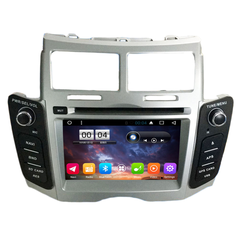 Quad Core Android 6.0 Car DVD Player for TOYOTA Yaris 2008 2009 2010 2011 CAR Radio gps stereo headunit tape recorder BT 4G WIFI