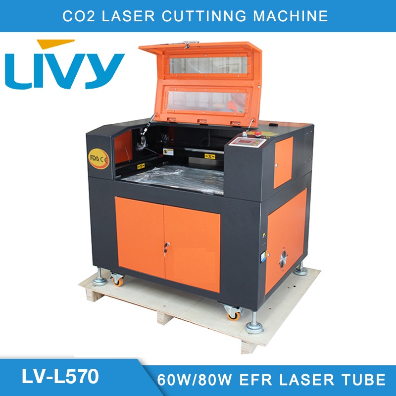80W EFR laser tube CO2 laser engraving machine acrylic laser cutting caving machine LV-L570 for DIY crafts электростандарт точечный светильник 2020 mr16 ch gr хром зеленый