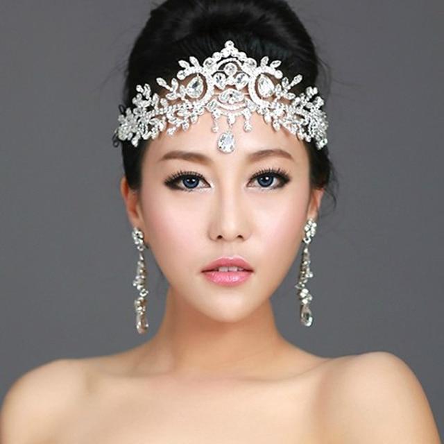 New Angle Rhinestone Wedding Hair Accessories Tiaras Crown Bridal