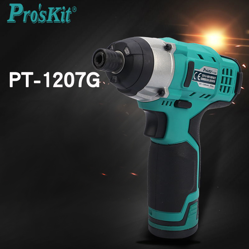 PT-1207G 12V Lithium electric drill screwdriver Multifucntion power tool kit for household impact cordless driver free shipping proskit pt 1362u usb li ion cordless electric screwdriver electronics repair tool set power tool kit household