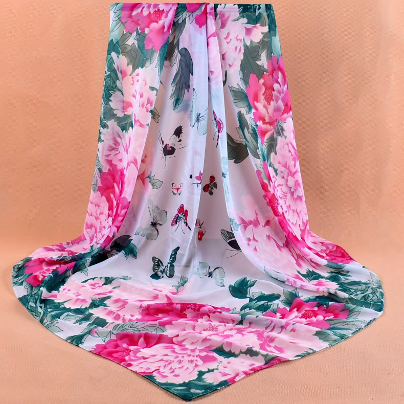 Women Large Square Silk   Scarf   Printed 90*90cm, Fashion Spring And Autumn Polyester Satin Silk   Scarves   Head Womens Shawl