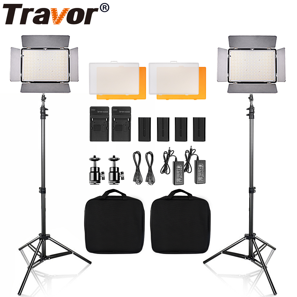 Travor TL-600S LED Video Light light kit 3200K 5600K studio camera light camcorder light with 2m tripod and carrying bag 704201 000 [ data bus components dk 621 0438 3s]