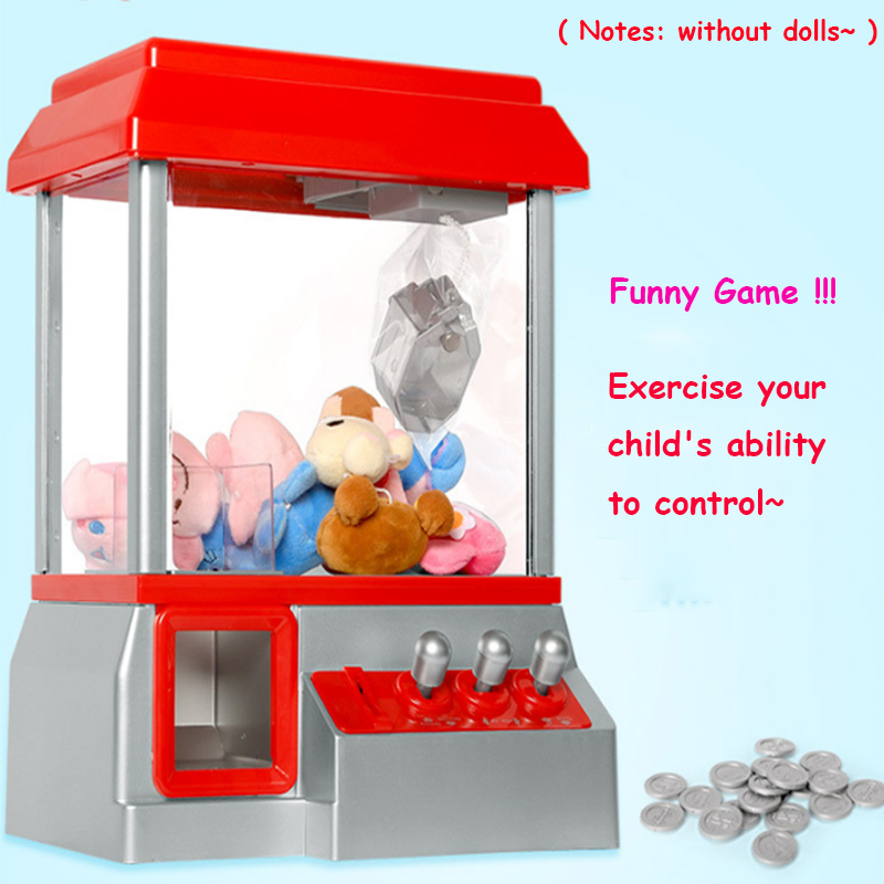 Hot Sale Kids Music Candy Grabber Coin Operated Game Doll Machine Claw Arcade Gifts Without Toys high quality electronic coin operated amusement park equipment kids children video arcade game machine for sale