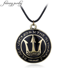 feimeng jewelry The Olympians The Sea of Percy Jackson Necklace Lightning Thief Poseidon Pendant Necklace For Men Fashion Gifts