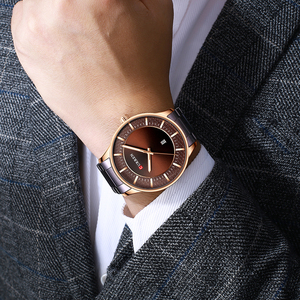 Image 2 - Reloj de pulsera de cuarzo para hombre, reloj de pulsera de acero inoxidable para hombre, reloj de pulsera de cuarzo con fecha, regalo de negocios Casual