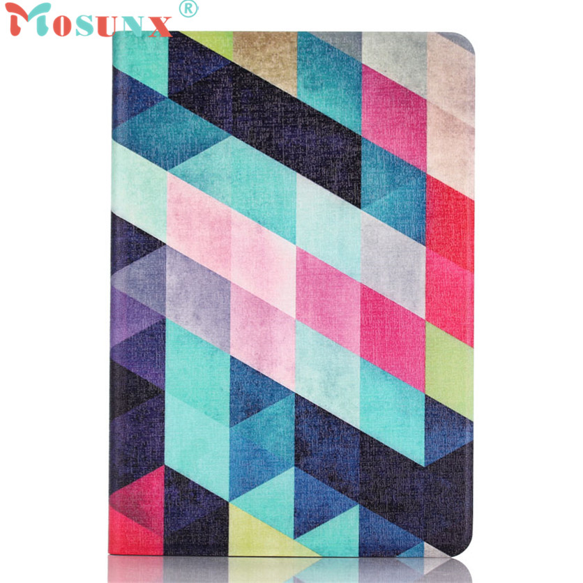 Mosunx SimpleStone Colored Squares Flip Stand Leather Case Cover For iPad Mini 1 2 3 Retina 60421 mosunx luxberry squares