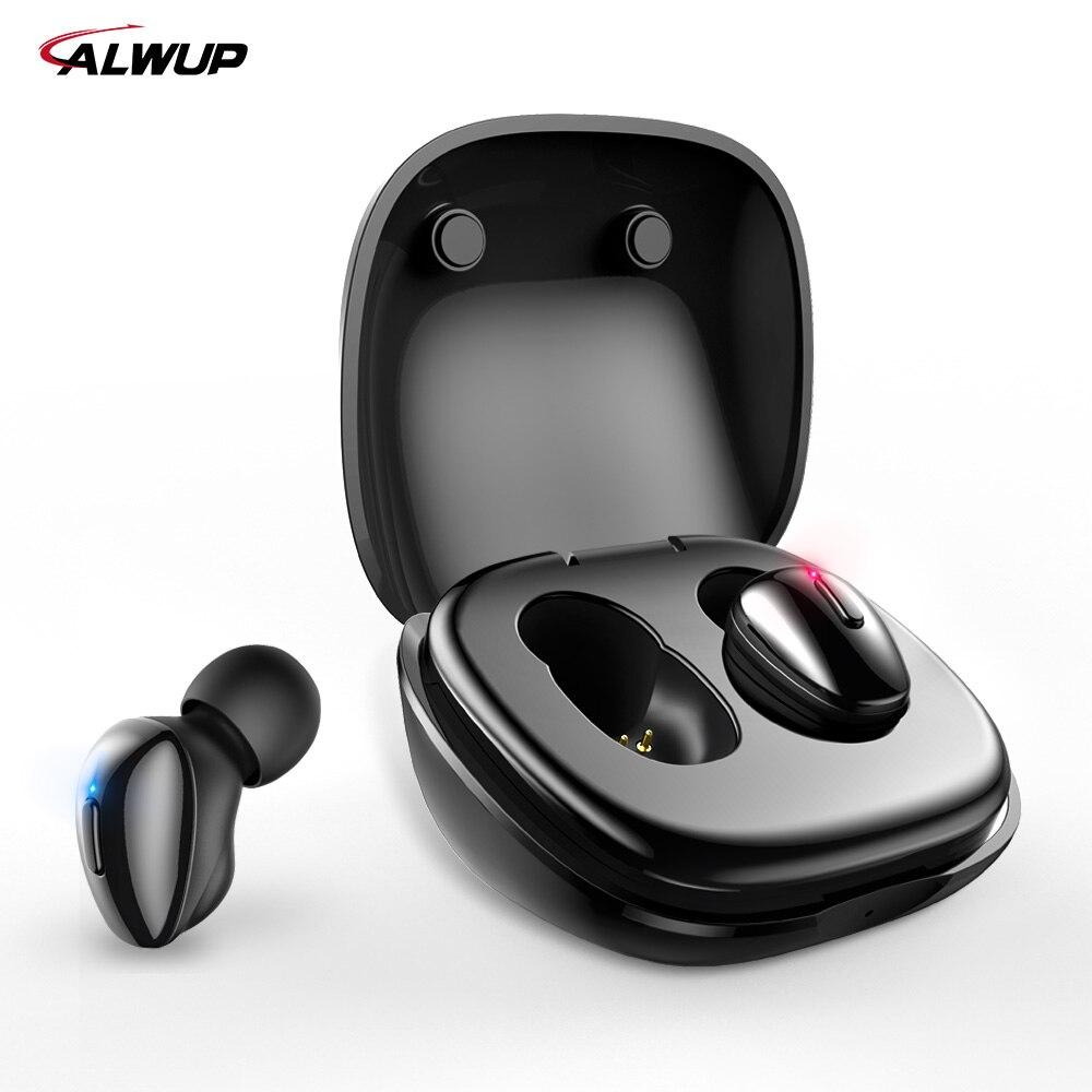 TWS ALWUP i9 Bluetooth 5.0 Sem Fio Fones De Ouvido Fone de Ouvido Com Microfone Duplo para Telefone 3D Graves Fone de Ouvido Estéreo Sem Fio Fones de Ouvido