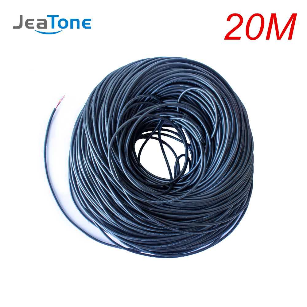 JeaTone Video Extend Cable 4x0.12mm 20 Meters Tinned Copper Wire Free Shipping