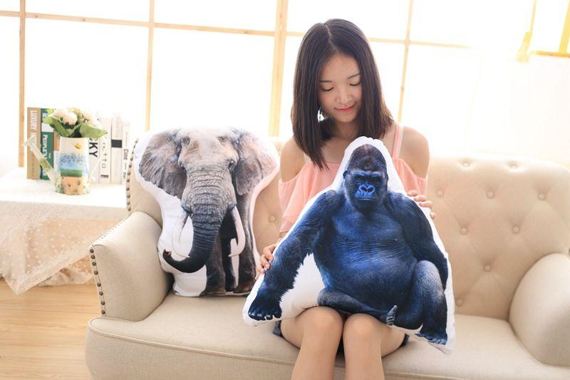 3D dimensionnel en peluche oreiller simulation animaux conception doux oreiller jouet, canapé coussin 0294 - 3