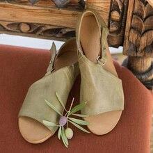 Women Sandals Soft Leather Flat Sandals Summer Shoe