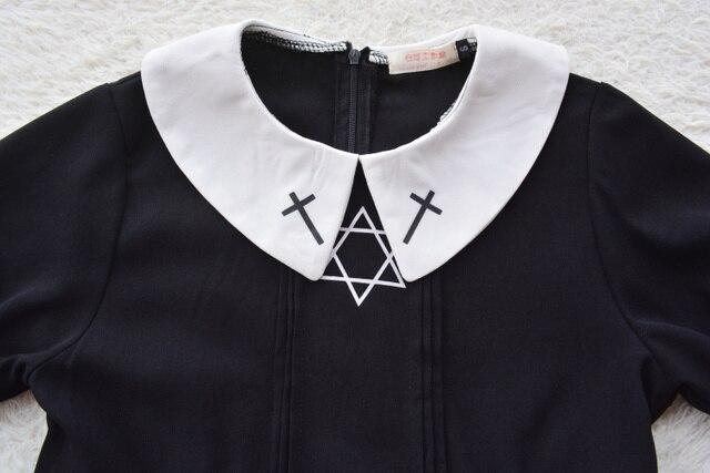 Harajuku Street Fashion Cross Cosplay Female Dress Japanese Soft Sister Gothic Style Star Tulle Dress Lolita Cute Girl Dresses 1