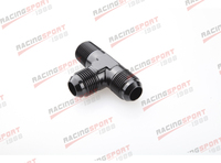 "An8 an 8 3/8 ""npt pipe flare tee t peça de encaixe adaptador ad25004 preto|an8 black|adapter fittingadapter 3/8 -"