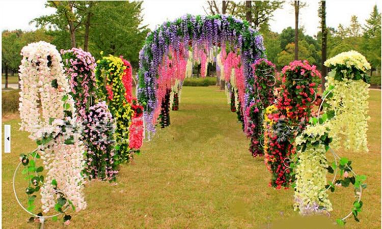 Superieur Wisteria Artificial Flowers Wedding Party Festival Decor Flowers Garden  Hanging Plant Vine 110cm 12pcs/lot In Artificial U0026 Dried Flowers From Home  U0026 Garden ...