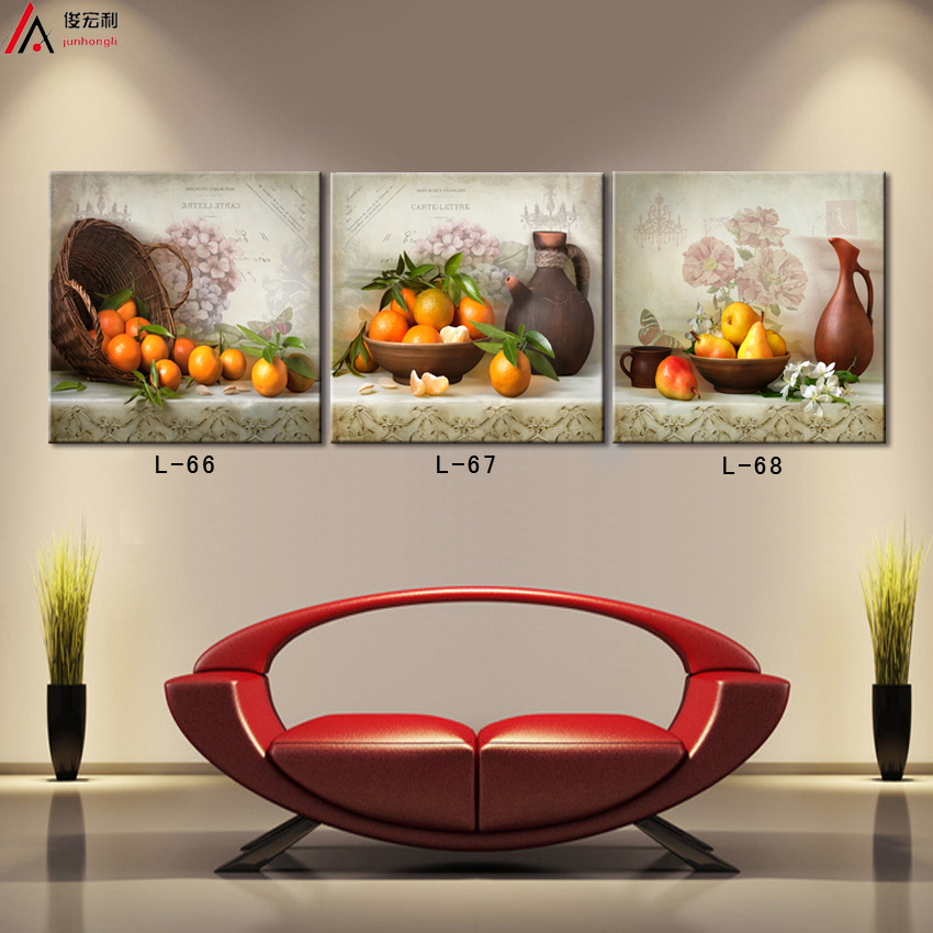 Buy triptych kitchen fruit painting for Decoration murale wish