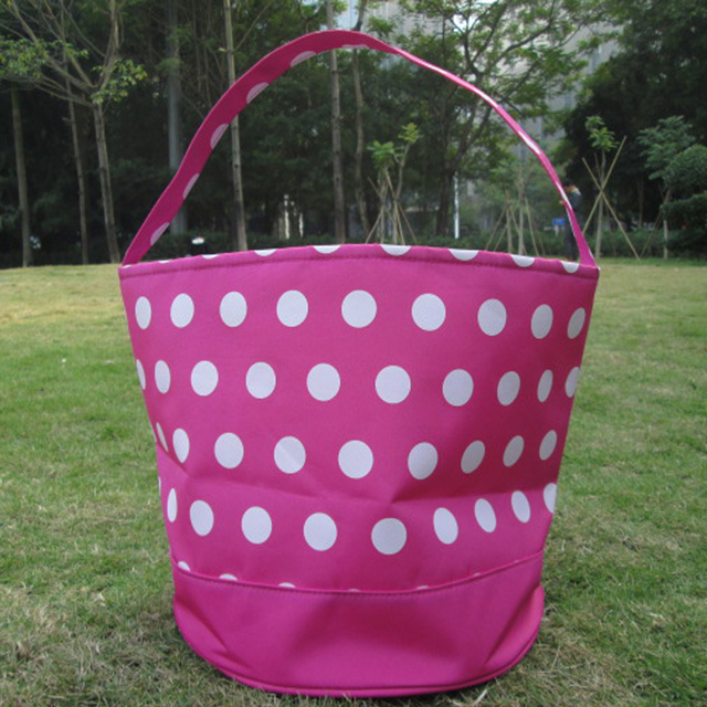 Wholesale polka dots easter basket polka dot easter tote wholesale polka dots easter basket polka dot easter tote monogrammable dots easter bag negle