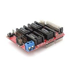 Elecrow نك درع V3.51 لاردوينو 3D طابعة مجلس التنمية مايكرو تحكم GRBL v0.9 متوافقة يستخدم Pololu السائقين