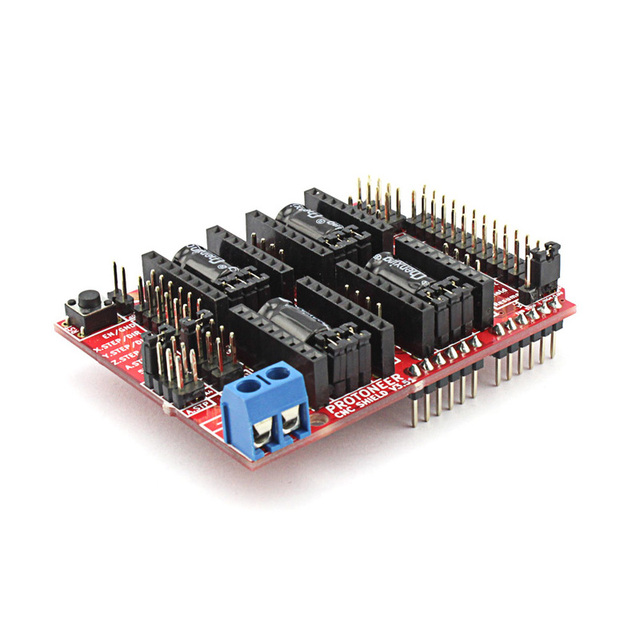 Elecrow New Development Board CNC Shield V3.51 for Arduino 3D Printer Micro Controllers GRBL v0.9 Compatible Uses Pololu Drivers