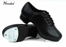 b496386747 Tamanho 27-45 Homens Adultos Crianças Menino Da Torneira sapatos de Dança  Sapatos de Couro de Vaca ou PU Oxford Lace Up Sapatos .