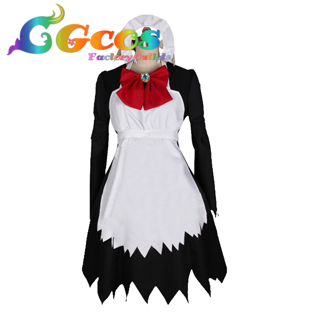 CGCOS Free Shipping Cosplay Costume Hoozuki no Reitetsu Maid Outfit New in Stock Retail / Wholesale Halloween Christmas