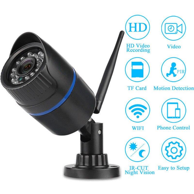Caméra réseau WIFI IP caméra vidéo HD avec carte SD Vision nocturne sans fil caméra extérieure étanche accès à distance