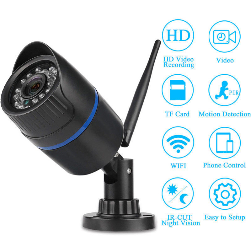 цена на WIFI IP Network Camera HD Video Camera With SD Card Wireless Night Vision Waterproof Outdoor Camera Remote Access