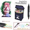 TOUCHFIVE 30 40 60 80 168 Colors Art Markers Set For Draw Manga Double Headed Sketch