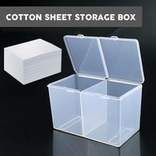 Double Grids Transparent Cotton Sheet Storage Box Make-up Cotton Pad Box Cotton swab Box Tattoo accessory