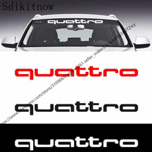 80x9cm Car Front Rear Windshield Sticker Decal Styling For Audi Quattro A1 A3 A4 A5 A6 A7 A8 Q3 Q5 Q7 S3 S4 S5 S6 S7 S8 TT RS