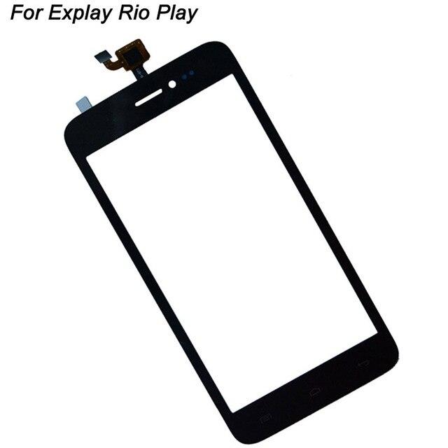 Для Explay Рио-play 5.0 дюймов Сенсорный Экран Планшета Переднее Стекло Замена Панели Сенсорный Стеклянный Объектив Сенсорный Экран Запасных Частей