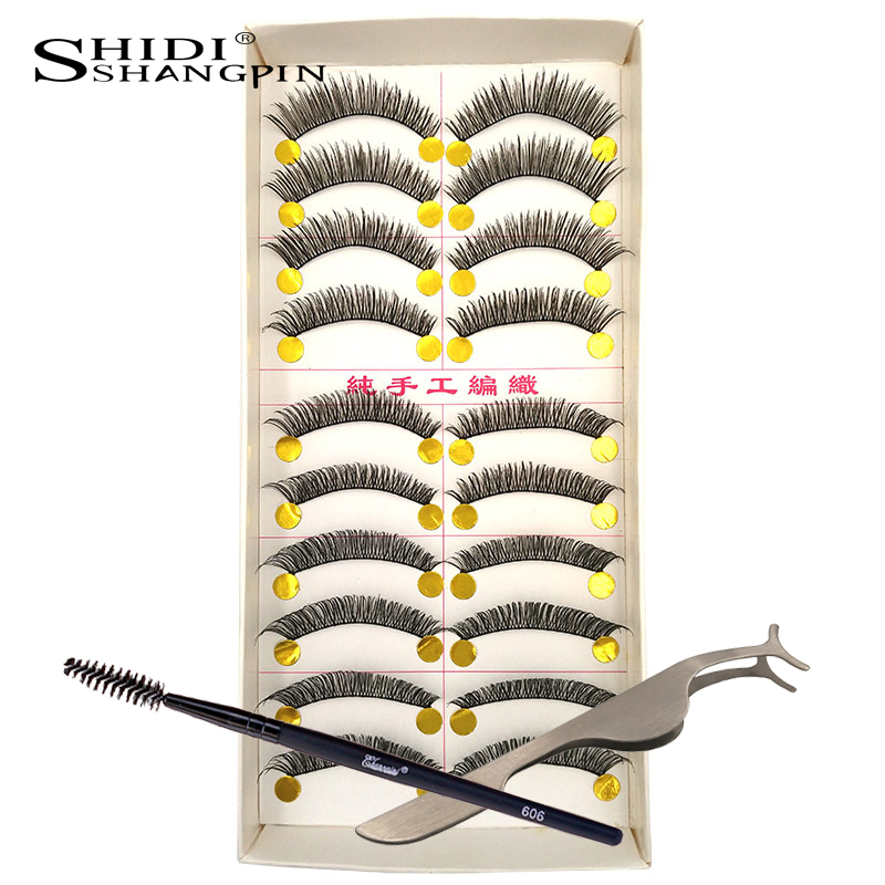 shidspin 10 pairs lot false eyelashes hair extension fake eyelash eye lashes pestanas postizas naturales beauty cosmetics #20T