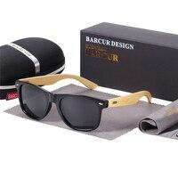 BARCUR поляризационные бамбуковые солнцезащитные очки мужские солнцезащитные очки в деревянной оправе женские брендовые оригинальные дерев...